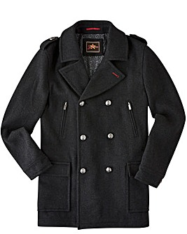 Joe Browns Charcoal Wool Military Coat