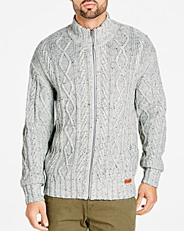 Joe Browns Cable Zip Through Cardigan