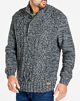 Joe Browns Cable Knit Button Neck