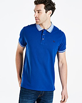 Bewley & Ritch Soda Blue Klum Birdseye Collar Polo Regular