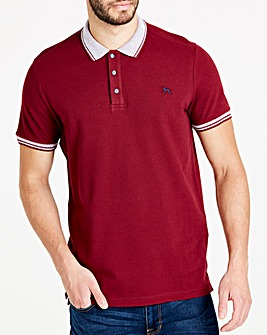 Bewley & Ritch Burgundy Klum Birdseye Collar Polo Regular