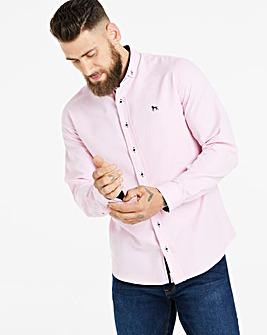 Bewley & Ritch Pink Taland Small Logo Long Sleeve Shirt Regular