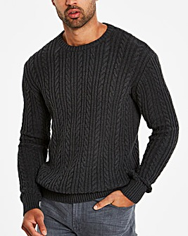 Bewley & Ritch Charcoal Cable Jumper R