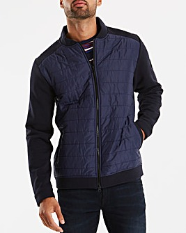 Bewley & Ritch Navy Jersey Sleeved Bomber Regular