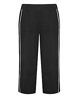 Three-Quarter Length Black And Charcoal Woven Pants Pack Of 2