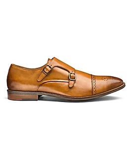 Flintoff By Jacamo Leather Monk Shoes