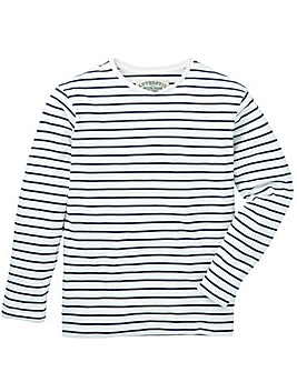 Jacamo Ashford L/S Stripe T-Shirt Long