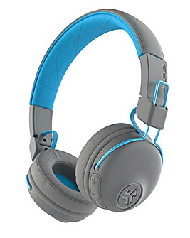 JLab Studio Wireless On Ear Headphones Grey/Blue