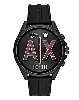 Armani Exchange Connected Smart Watch - Drexler Black Silicone