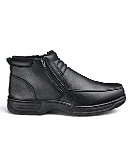 Cushion Walk Zip Boots Wide Fit