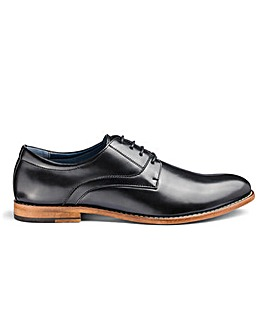 Leather Look Derby Shoes Wide Fit