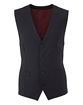 Skopes Stretch Black Darwin Smart Wool Mix Suit Waistcoat Regular