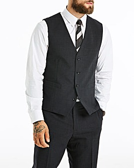 Skopes Stretch Charcoal Darwin Smart Wool Mix Suit Waistcoat Regular
