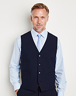 Skopes Stretch Navy Darwin Smart Wool Mix Suit Waistcoat Regular