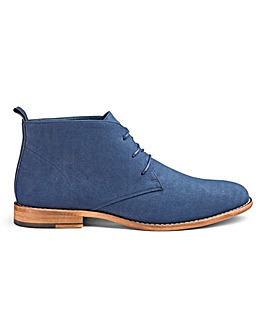 Suede Look Chukka Boots Wide Fit