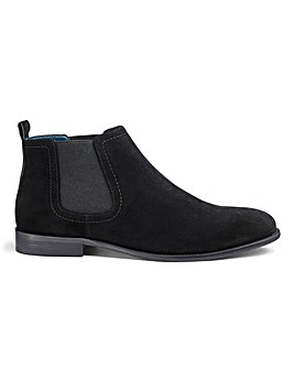Suede Look Chelsea Boots Wide Fit