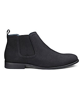 Nubuck Effect Chelsea Boots Wide Fit