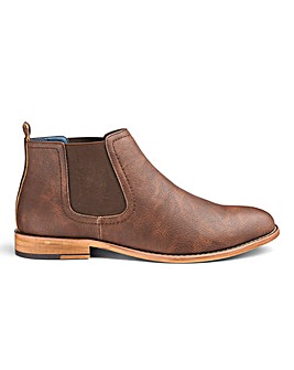 Leather Look Chelsea Boots Wide Fit
