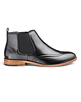 Brogue Chelsea Boots Standard Fit