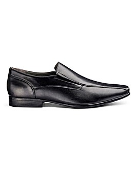 Leather Embossed Slip Ons Extra Wide Fit