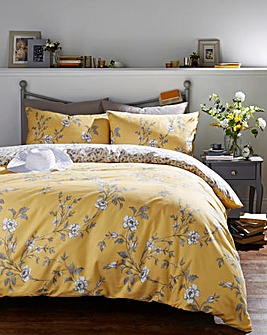 Yasmina Ochre Reversible Duvet Cover Set