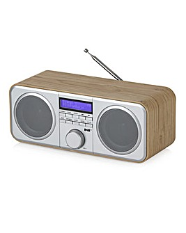 Akai Oak Wood Stereo Radio