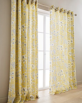Sanderson Maelee Eyelet Lined Curtains