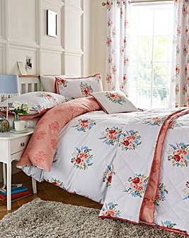 Pom Pom Floral Duvet Cover Set