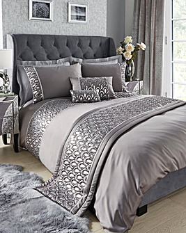 Crystal Silver Duvet Cover Set