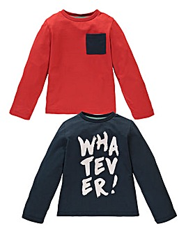 KD MINI Boys Pack of Two Tops (2-7 yrs)