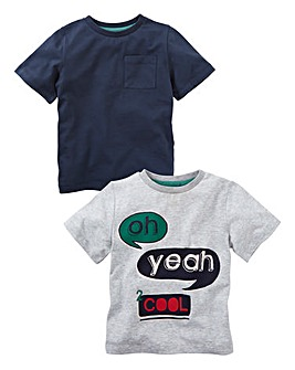 KD MINI Boys Pack of Two T-Shirts (2-7 yrs)