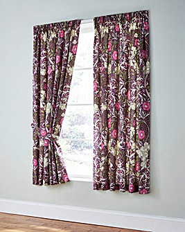 W Morris Seaweed Curtains with Tiebacks