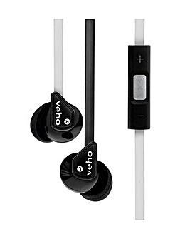 Veho Z2 In-Ear Headphones - Black/White