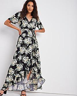 Joanna Hope ITY Frill Tie Wrap Dress