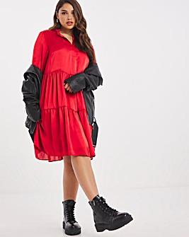 Joanna Hope Satin Smock Dress