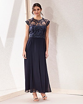 Joanna Hope Embroidered Bodice Maxi Dress
