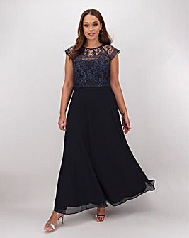 Joanna Hope Embroidered Bodice Dress