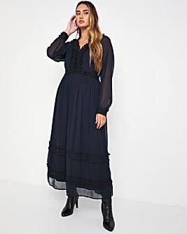 Jo Lace Frill Maxi Dress