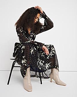 Jo Inky Print Dobby Maxi Dress