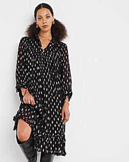 Jo Foil Print Dress