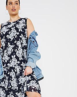 Joanna Hope Printed Layered Swing Dress