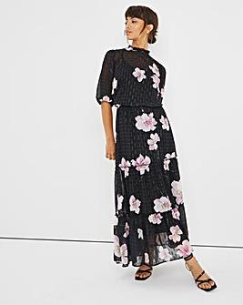 Joanna Hope Foil Print Floral Dress