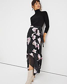 Joanna Hope Floral Wrap Skirt