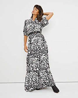 Joanna Hope Mono Print Midi Dress
