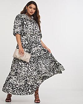 Joanna Hope Satin Maxi Dress