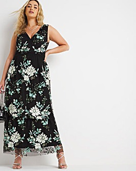 Joanna Hope Sequin Tiered Dress