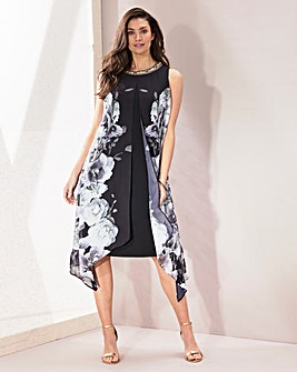 Joanna Hope Split Front Print Dress