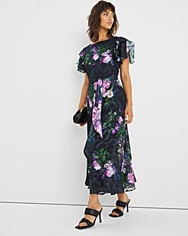 Joanna Hope Frill Capelet Dress