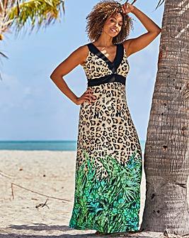 Joanna Hope Leopard Print Jersey Maxi