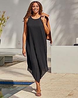 Joanna Hope Pleated Aysmmetric Dress